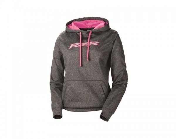 RZR Damen Vapor Hoodie grau/pink