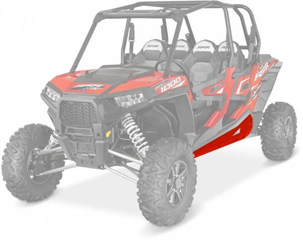 RZR 4 Rock Sliders Low Profile Indy Red