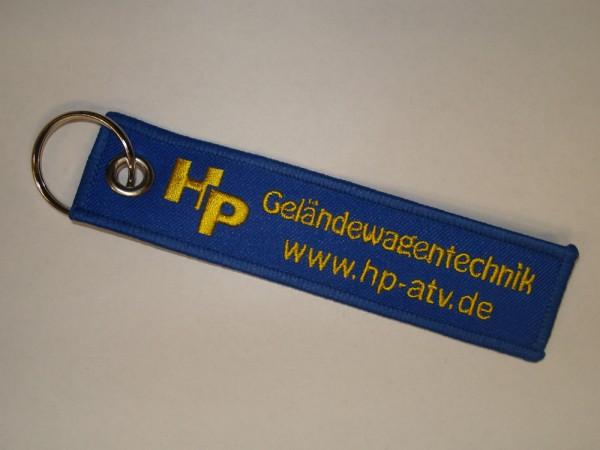 HP Schlüsselanhänger gestickt