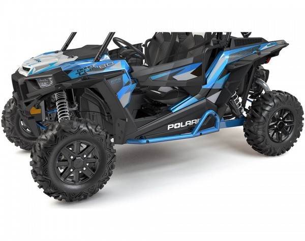 RZR Rock Sliders Extreme Kick-Out Velocity Blue