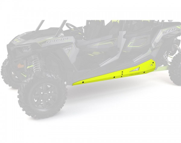 RZR 4 Rock Sliders Low Profile Lime Squeeze