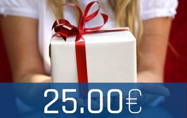 Wertgutschein Onlineshop 25€