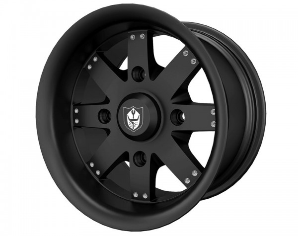 Polaris Alufelge Amplify Matte Black hinten 14x8