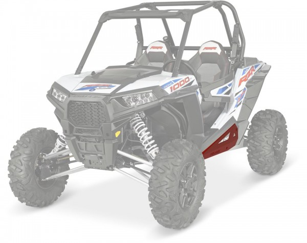 RZR XP Rock Sliders Low Profile Indy Red