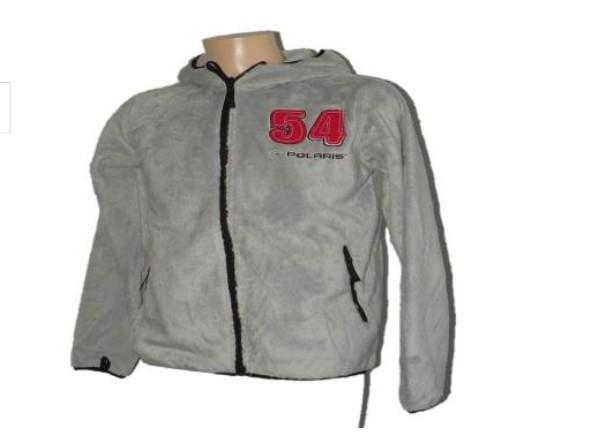 Polaris 54 Zip-Jacke flauschig grau