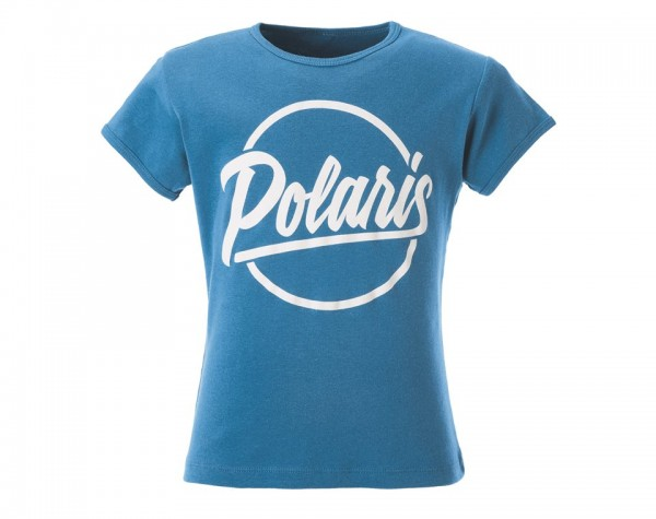 Polaris Kinder Script T-Shirt blau