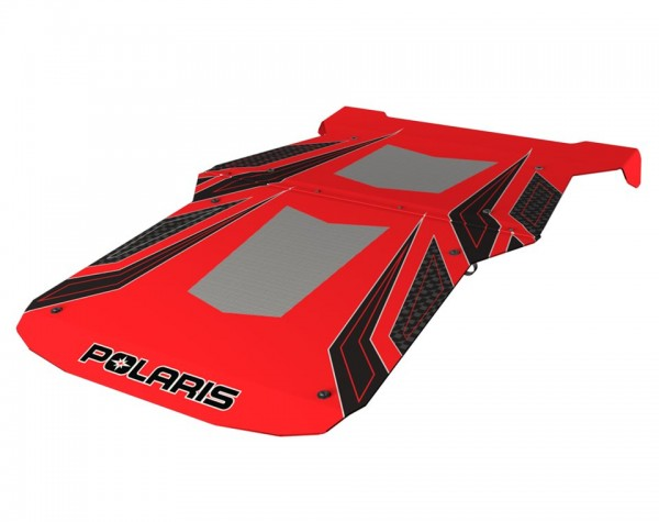 RZR 4 Graphic Sport Dach Indy Red