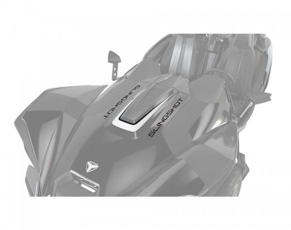 Slingshot Aufkleber Motorhaube White Lightning