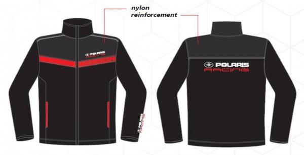 Polaris Racing Fleece-Jacke schwarz-rot