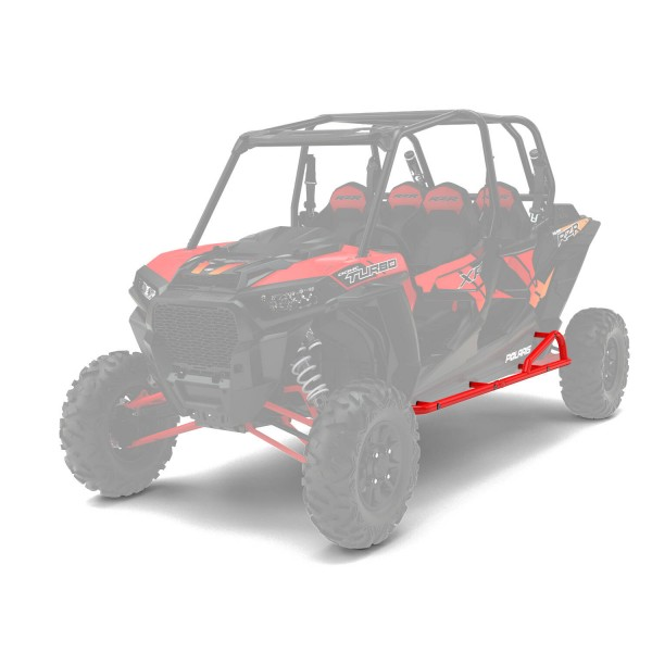 RZR XP 4 Rock Sliders Extreme Kick-Out Indy Red